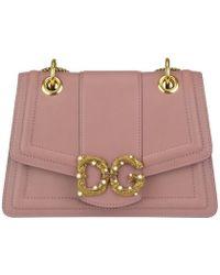 Dolce & Gabbana - Logo Buckle Shoulder Bag - Lyst