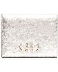 Ferragamo Gancini Compact Wallet - Metallic