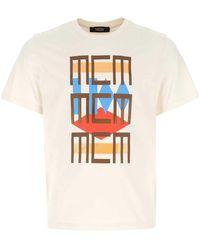 MCM Graphic Print Crewneck T-shirt - White