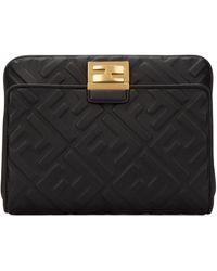 Fendi Upside Down Ff Motif Belt Bag - Black