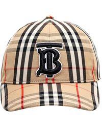 Burberry Monogram Motif Check Cotton Baseball Cap - Multicolour