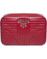 Prada Quilted Camera Bag - Red