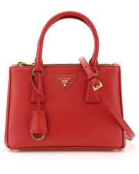 Prada Mini Galleria Tote - Red