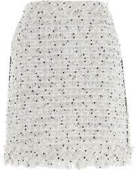 Karl Lagerfeld Bouclé Mini Skirt - Multicolour