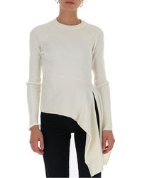 3.1 Phillip Lim Draped Knitted Top - White