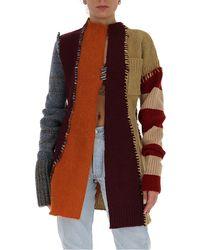 Marni Striped Stitched Cardigan - Multicolour
