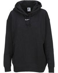 Nike Swoosh Logo Hoodie - Black