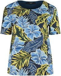 Weekend by Maxmara Caco Printed Cotton T-shirt - Blue
