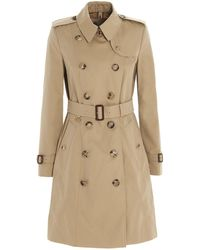 Burberry Chelsea Heritage Mid-length Trench Coat - Natural
