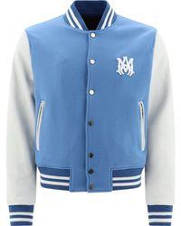 "Amiri ""letterman"" Bomber Jacket - Blue"