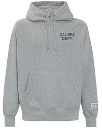GALLERY DEPT. Logo Print Hoodie - Grey