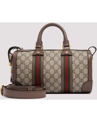 Gucci GG Supreme Duffle Bag - Brown