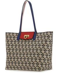 Ferragamo Gancini All-over Printed Tote Bag - Multicolor