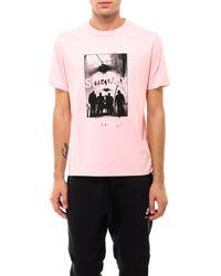 Neil Barrett Photographic Jersey T-shirt - Pink