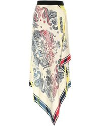 Golden Goose Printed Silk Skirt Nd - Multicolour