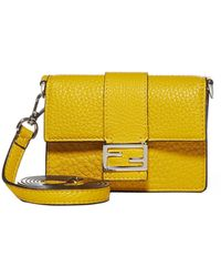 Fendi Baguette Flat Micro Clutch Bag - Yellow