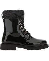 Moncler Rubber And Fabric Galaxite Boots 35 - Black
