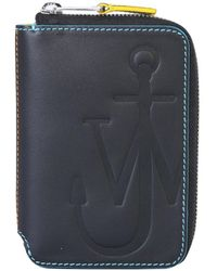 JW Anderson Anchor Zip Around Wallet - Black