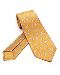 BVLGARI Daddy Cool Pictorial Tie - Yellow
