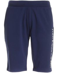 Polo Ralph Lauren Logo Print Sweat Shorts - Blue