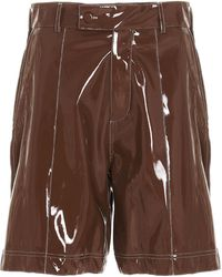 Gcds High-rise Bermuda Shorts - Brown
