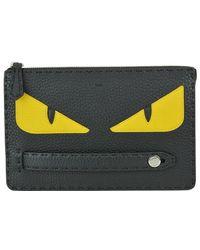Fendi Bag Bugs Eyes Roman Clutch Bag - Black