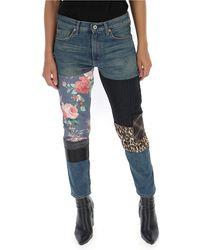 Junya Watanabe Patchwork Denim Jeans Indigo Mix - Blue