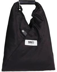 MM6 by Maison Martin Margiela Logo Printed Japanese Tote Bag - Black