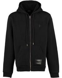 Marcelo Burlon Logo Detail Hooded Jacket - Black