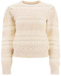 Étoile Isabel Marant Crochet Knit Pullover - White
