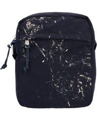 Maison Margiela Paint Effect Crossbody Bag - Blue