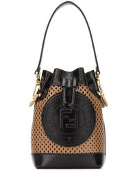 Fendi Mini Mon Tresor Bucket Bag - Natural