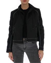 Marine Serre Patterned Biker Jacket - Black