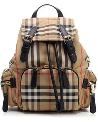 "Burberry Small ""rucksack"" In Vintage Check - Multicolour"