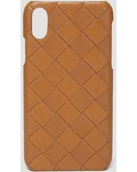 Bottega Veneta Intreccio Iphone X/xs Case - Natural