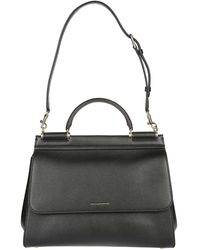 Dolce & Gabbana Sicily Top Handle Tote Bag - Black