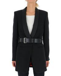 Philosophy Di Lorenzo Serafini Belted Tuxedo Blazer - Black