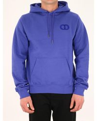 Dior Cd Icon Embroidered Hoodie - Purple