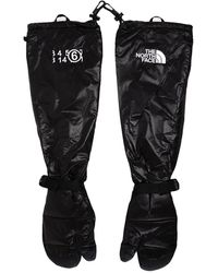 MM6 by Maison Martin Margiela X The North Face Tabi Expedition Mitt Gloves - Black