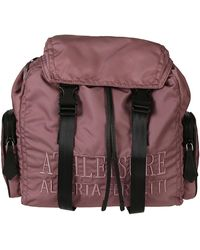 Alberta Ferretti Logo Embroidered Backpack - Pink
