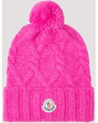 Moncler Cable Knitted Beanie - Pink