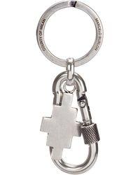 Marcelo Burlon Logo Pendant Keychain - Metallic