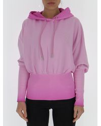 Opening Ceremony Fitted Waistband Hoodie - Pink