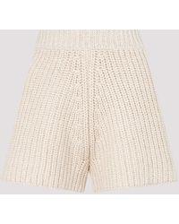 Alanui Chunky-knit Shorts - Natural