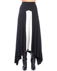 Givenchy Asymmetric Pleated Skirt - Blue