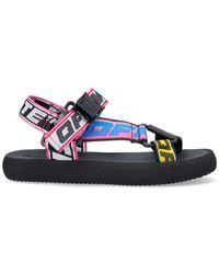 Off-White c/o Virgil Abloh Trek Logo-strap Sandals - Blue