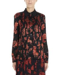 Tory Burch Floral Pleated Shirt - Multicolour