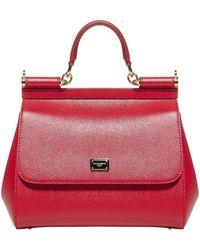 Dolce & Gabbana Sicily Medium Shoulder Bag - Red