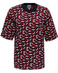 KENZO Allover Logo T-shirt - Red