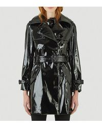 Saint Laurent Double Breasted Trench Coat - Black